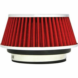 Redline Universal Red Small Reusable Car Air Intake Cone Filter Pm 8162
