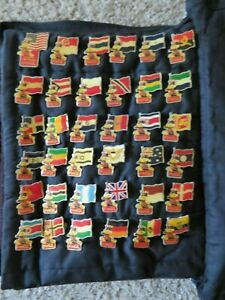 1984 Coca-Cola Olympic Pin Set of 36 Assorted City Flags