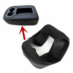 Armrest Console Jump Seat Cover Top For 2007 2014 Silverado Tahoe Sierra Black