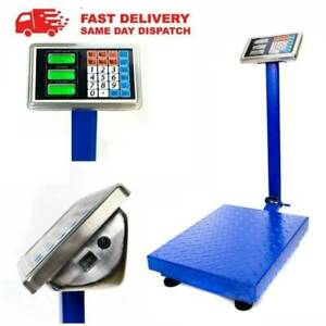 661lb 300kg Weight Price Scale Digital Floor Platform Shipping Warehouse Postal