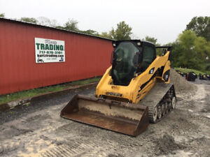 2008 Caterpillar 287c Compact Track Skid Steer Loader W Cab 2spd Only 2200hrs