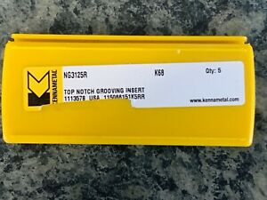 5 Kennametal Ng 3125r Top Notch Inserts K68 Grade