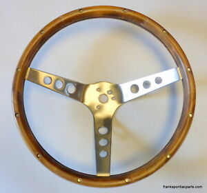 Grant Gt Wood Steering Wheel Universal Fit Chevy Buick Pontiac Dodge Ford