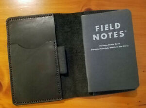 Field Notes Black Leather Journal Cover With Pen Loop