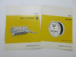 Rare Wabco Sheep s Foot Roller Wire Rope Sales Sheets 1965 1967