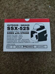 Amseco Ssx 52s Self Contained Siren With Blue Strobe