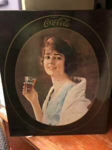 1973 Drink Coca'Cola 1923 Advertisement Lady Metal Sign 14