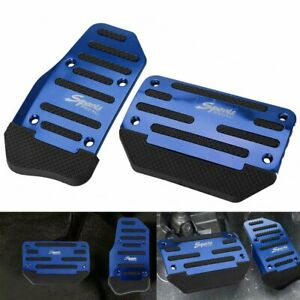 Blue Non Slip Automatic Gas Brake Foot Pedal Pad Cover Car Accessories Us