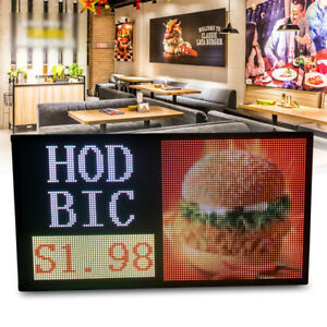 27 x 14 Full Color Video P5 Led Sign Programmable Scrolling Message Display Usa