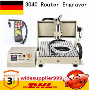 4 Axis 3040 Cnc Router Engraver Wood Milling Machine rc Controller 800w Vfd Top