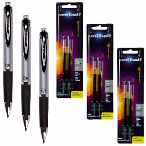 Uni ball Signo Impact 207 Rt 65870 With Refills 65873 Black Gel Ink 1 0mm Bold