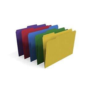 Myofficeinnovations Colored 3 tab File Folders Legal Assorted Colors 100 pack