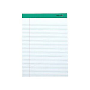Myofficeinnovations Notepads 8 5 X 11 75 Narrow White 50 Sh pad 12 Pads pk