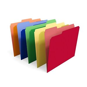 Myofficeinnovations Interior File Folders 3 tab Letter Size Assorted Colors 100