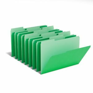 Myofficeinnovations Colored Top tab File Folders 3 Tab Green Letter Size 100