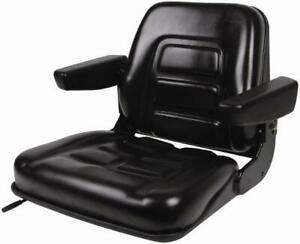 Fork Lift Seat Fold Down With Armrests And Slides Universal
