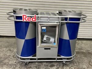 Redbull Energy Drink Cart New Idw Cooler Rolling Event Display 4751 Red Bull
