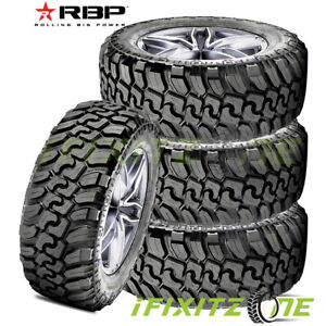 4 Rbp Repulsor M t Ii 33x12 50r20lt 119q F Extreme Off road Traction Mud Tires