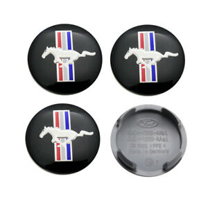 4x Wheel Center Caps Hub Caps Car Rim Cover Emblem Badge 54mm Fits Ford Mustang