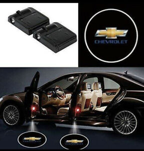 2x Pcs Wireless Car Door Led Projector Light For Chevrolet Usa Chevy