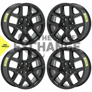 22 Dodge Ram 1500 Black Wheels Rims Factory Oem 2019 2021 Set 4 2684 Exchange