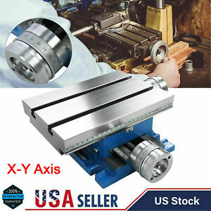 Compound Milling Machine Worktable Cross Slide Bench Drill Vise Fixture X y Axis