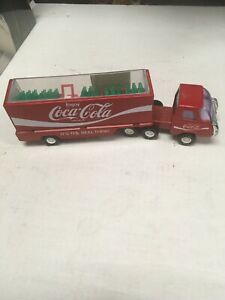 Buddy L Coca Cola Semi Truck With Cab And 5 Plastic Cases Of Bottles