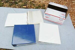 3 Ring Binder Notebook Lot 3 352 Clear Pages 8 x 10 Pre owned Flat Rate Box