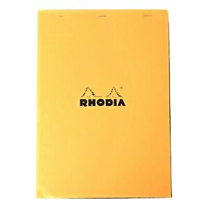 Bloc Rhodia 5mm Graph Orange Pads 8 25 X 11 75 Top Stapled 80 Sheets