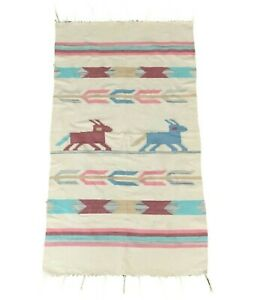 Native American Indian Navajo Style Area Rug In Pastels