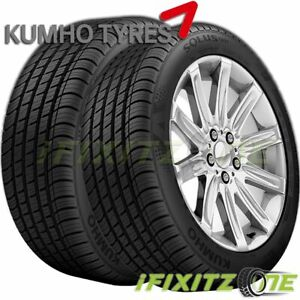 2 New Kumho Solus Ta71 245 40zr17 91w 60k Mi Warranty All season Touring Tires
