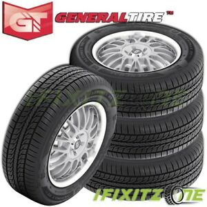 4 General Altimax Rt43 225 60r16 98h All Season Touring Tires 65k Mile Warranty
