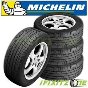4 Michelin Premier A s 195 65r15 91h Tires 60k Mile 640aa All Season Quiet
