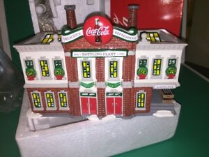 Dept 56 Coca Cola Bottling Plant 54690 Lighted Building NEW Christmas Village
