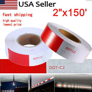 2in X150ft Caution Reflective Tape Safety Warning Tape Sticker Decor Auto Truck