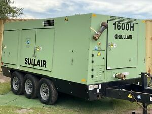 2006 Sullair 1600haf Cat Powered Rotary Screw Portable Diesel Air Compressor