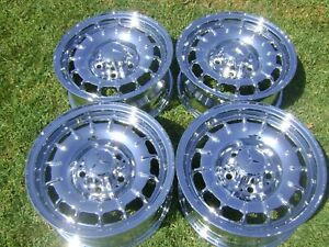 14 Four New Mercedes Benz Sl280 Sl380 Sl450 Sl560 Oem Chrome Wheels 65133