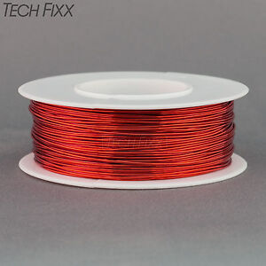 Magnet Wire 24 Gauge Awg Enameled Copper 198 Feet Coil Winding And Crafts Red
