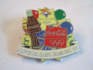 Coca Cola Olympics Salt Lake 2002 Souvenir Pin