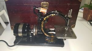 Antique Wilcox Gibbs Sewing Machine Case Pedal Immaculate Condition