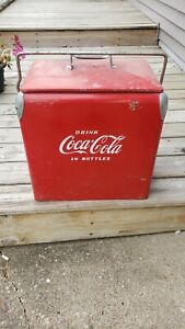 Vintage 1950's Coca-Cola Cooler Ice Chest w/ Tray