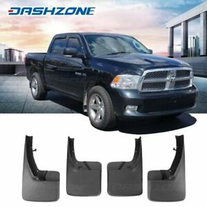 Front Rear Splash Mud Guards Flaps Fit 2009 2018 Dodge Ram 1500 2500 3500