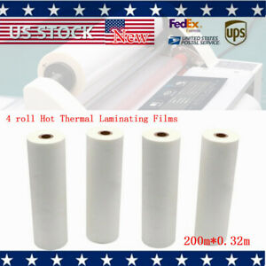 Glossy 0 32x200m Uv Luster Thermal Laminating For A2 Size Laminator 4 Rolls New