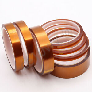 1 Roll 4mm X 10 Meter Kapton Resistant Temperature Polyimide Double Sided Tape