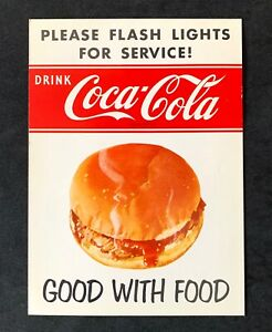 Vintage Original Coca-Cola DRIVE-IN RESTAURANT SIGN - Bell Hop Call for Service