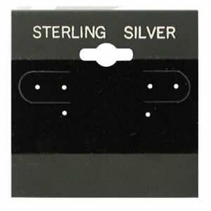 100pcs Earring Display Hanging Card Blk 2 X 2 With L Lip For Spinner Hang
