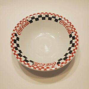 Vintage 1996 COCA-COLA Gibson Red/Black/White Checkered Soup Cereal Deep 8