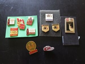 Vinyage Lot Of Coca Cola Olympic Pins