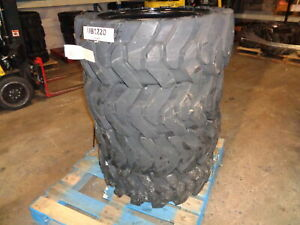 4 Used Summit Solid Skid Steer Tires 12x16 5 With Rims Free Shipping