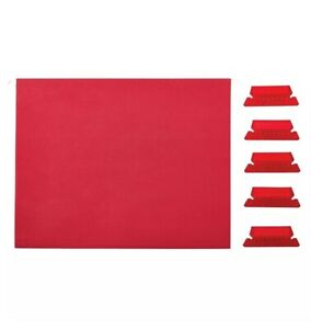 New Staples Hanging File Folders 5 tab Letter Size Red 25 box 163535